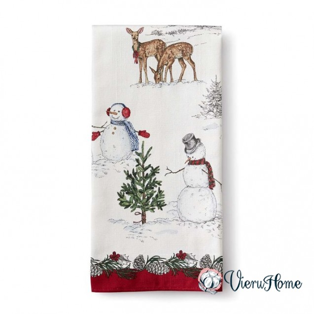 Новогоднее полотенце WSI 51 см на 76 см 100% хлопок