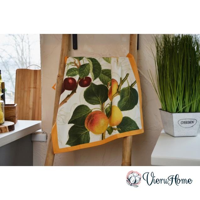 Кухонное полотенце WSI Фрукты 51см*76см 100% хлопок