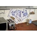 Скатерть с салфетками WSI Пастораль с защитным покрытием 145см на 220см 100% хлопок