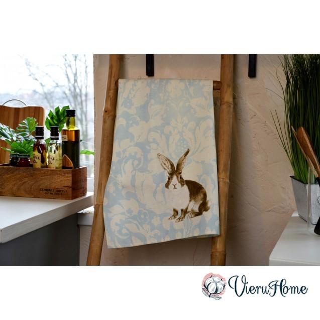 Кухонное пасхальное полотенце WSI Винтажный кролик 51см*76см 100% хлопок