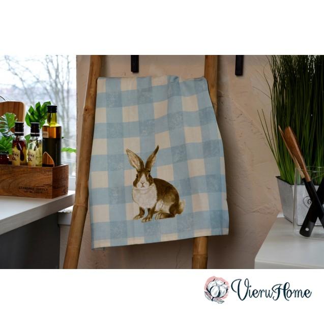 Кухонное пасхальное полотенце WSI Дамасский кролик 51см*76см 100% хлопок