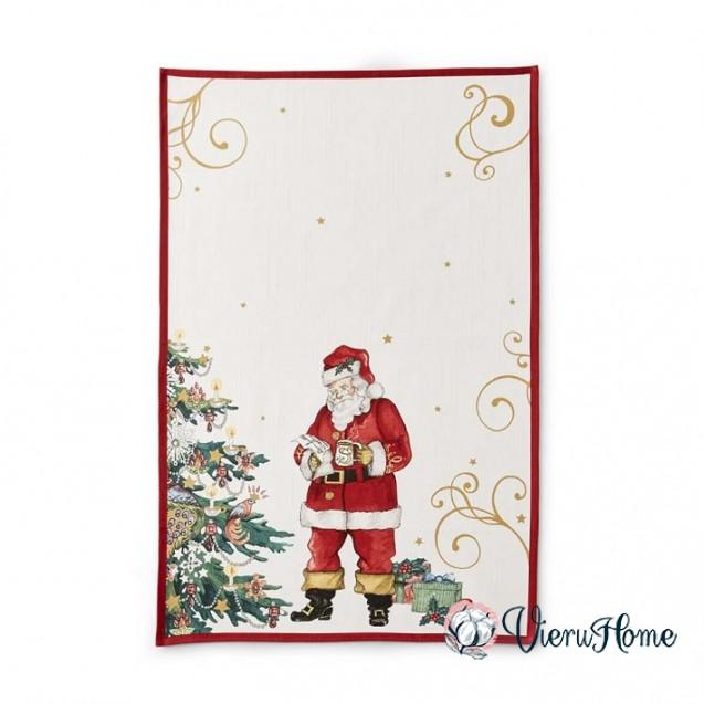 Новогоднее полотенце WSI Дед Мороз 51 см на 76 см 100% хлопок